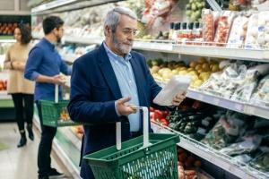 Senior Man Grocery Shopping