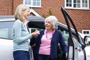 Volunteer Driver helping with Senior Citizen Transportation
