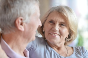 older couple talking about Aging In Place