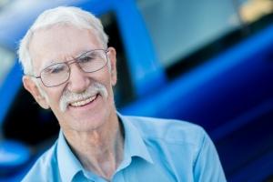 Elder man using a Senior Citizen Transportation