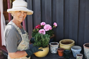 active women who is a Aging Parents gardening