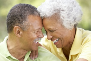 Aging Parents happy with each other and smiling