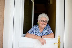 elderly woman living in home
